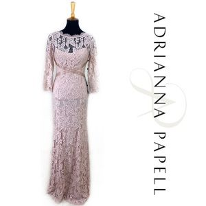 Adrianna Papell Lace Blush Dress